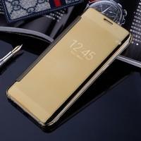 Samsung J7 Max Smart Flip Slim View Mirror Hard Case Casing hp