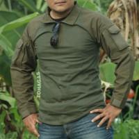 Kaos Pria BDU Army/Baju Lengan Panjang Pria/Pakaian Outdoor/Kaos Kerah