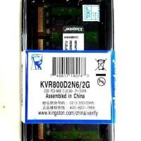 RAM TERLARIS / RAM LAPTOP DDR2 2GB KINGSTON PC2/6400 ORI