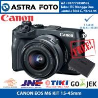 CANON EOS M6 / CANON M6 KIT 15-45 IS STM MIRRORLESS GARANSI RESMI 1TH