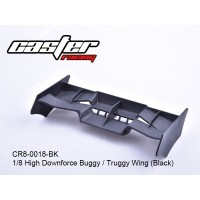 HIGH DOWNFORCE BUGGY TRUGGY WING 1/8 BLACK CR8-0018-BK