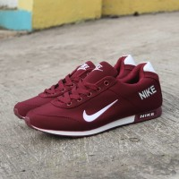 Sepatu NIKE NEO MERAH MAROON Running Shoes Keren Murah Berkualitas f502d040e6