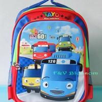 Tas Sekolah Anak Ransel Backpack TK TAYO The Little Bus