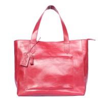 Tote Bag Kulit Tanaka Red