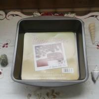 Loyang kue teflon anti lengket square cake pan 8 in