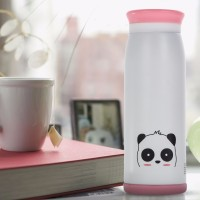 Colourful Cute Cartoon Mik Water Bottle 500ml Thermos White Panda