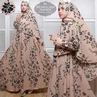 Tunik Muslimah Baju [Syari Monalisa Natris Choco TL] gamis wanita