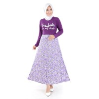 Baju Wanita Busana Cewek Jfashion Long Dress Gamis Maxi tangan panjang