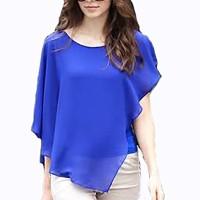 Baju Wanita Atasan Cewek Blouse Sifon Kombinasi Spandek Model Sayap