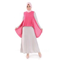 Baju Wanita Busana Cewek Jfashion Long Dress Gamis Maxi tangan Corak