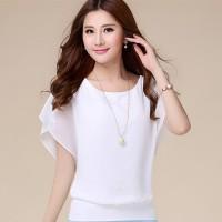 Baju Wanita Atasan Cewek Blus Sifon Model Korea Wing