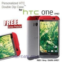 Case HTC One M8 : Double Dip Hardcase Murah
