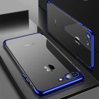 TPU PLATING iPhone 7 8 Plus Transparan back cover soft case casing hp