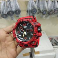 JAM TANGAN PRIA CASIO G-SHOCK GWG 1000 MOTIF GARIS FULL RED
