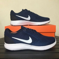 Sepatu Running /Lari Nike Revolution 3 Midnight Navy 819300-406 Ori