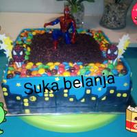 Birthday cake / kue ulang tahun spiderman dg fondant