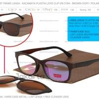Paket Frame Lensa - SALE Kacamata Plastik Levis Clip On 5184