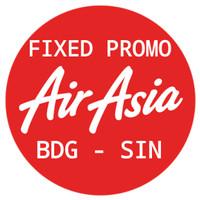 Tiket Pesawat Air Asia Fixed Promo Bandung - Singapura PP