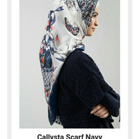 Hijabenka - Callysta scarf Navy & green by Havva
