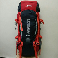 tas Carier REI AMAZON 50ltr black red ORI not eiger consina