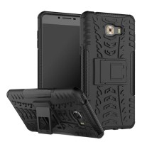 Hard Soft Case Samsung C9 Pro Casing Cover HP Armor Stand Silikon 3D