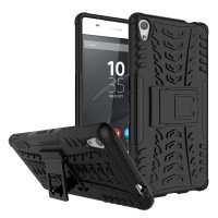Hard Soft Case Sony Xperia XA Ultra Casing HP Armor Stand Softcase TPU