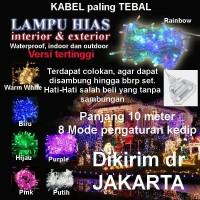 Lampu Natal Imlek LED string dekorasi tumblr Twinkle Light WARM WHITE