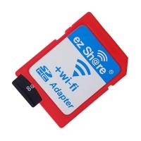 Mediatech EZ Share Micro SD to SD Card Merah WiFi Adapter 79020