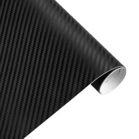 Stiker Carbon Fiber Mobil Wrap 3D Multifungsi 127 x 30 CM - HITAM