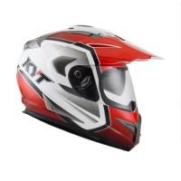 KYT ENDURO #1 WHITE/RED/BLACK Helm Full