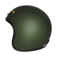 Zeus ZS-385 Retro Helm Half Face - Matt Green Army