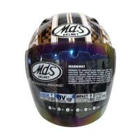 MDS Sport R3 Mickey Classic Rider #2 Helm Half Face - Black
