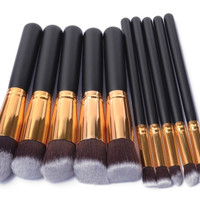 10 In 1 Make Up Brush / Kuas Make Up Isi 10 Pcs