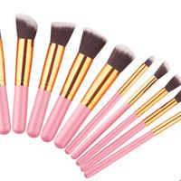 10 In 1 Make Up Brush / Kuas Make Up Isi 10 Pcs