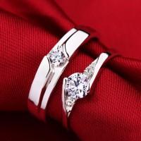 Cincin Kawin Couple, Perak, Palladium, Emas, Nikah, Pasangan 280