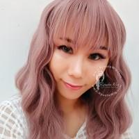 WIG LOLITA mermaid wave wavy pink gray silver cute kawaii ulzzang