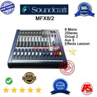 MIXING MIXER SOUNDCRAFT MFX8 2 GROUP EFFECT LEXICON FREE ONGKIR
