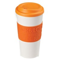 Lock&Lock Eco Double wall Mug 420ml - Orange Diskon