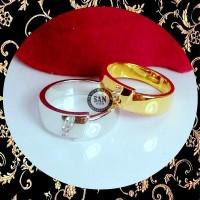 cincin kawin emas kuning dan perak