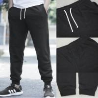 Celana HnM Jogger Joggerpants Black Basic Sweatpants H&M Berkualitas