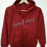 Jacket Fleece Size: M - maroon