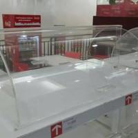 Box Rak Display Tempat Donut Roti Kue Makanan 65x43x22.5 CM Acrylic