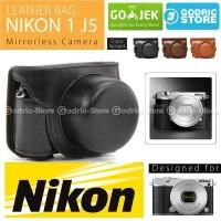 Nikon 1 J5 Leather Bag Case Tas Kulit Kamera Mirrorless