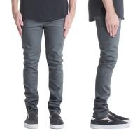 Celana Chino Panjang Pria Light Grey - Abu Muda