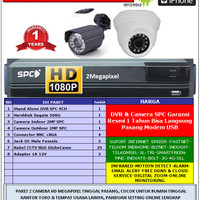 Paket 2 Kamera CCTV Rekam HD 1.3Megapixel Camera Outdoor Indoor Online