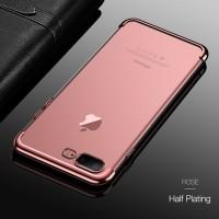 iPhone 7 8 Plus Transparan back cover soft case casing hp TPU PLATING