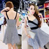 JES-SB0808 mini dress sexy import korea-party dress-baju gaun seksi