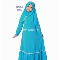 Baju muslim/gamis anak perempuan warna biru