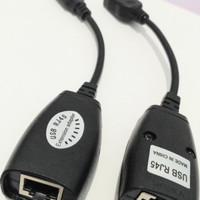 Perpanjang USB RJ45 Extender Kabel LAN UTP Cat5 Cat5e Cat6 Extension