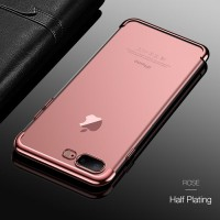 iPhone 7 8 Plus Transparan back cover soft case casing hp TPU PLATING